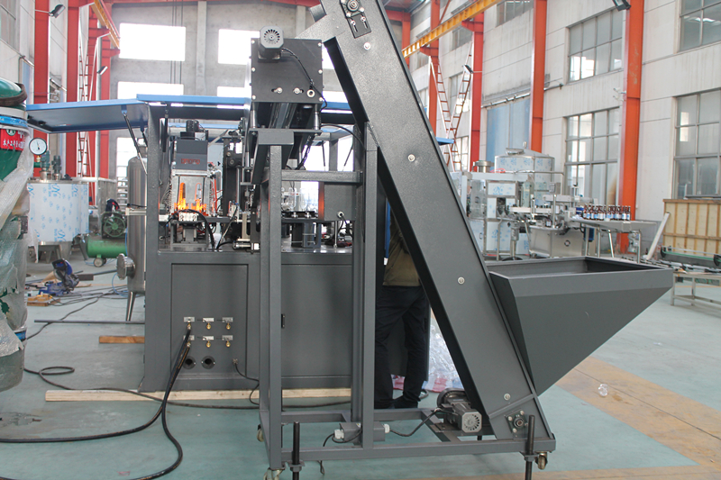 Automatic 2 cavity bottle blow molding machine