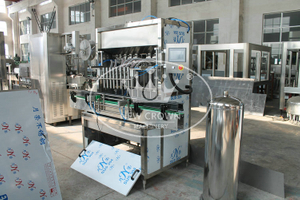 PP PE bottle petrol and engine oil piston filling machine