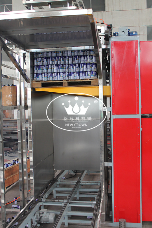 Automatic can/bottle de-palletizer depalletizing machine